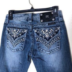 🔵 Miss Me Signature Boot Cut Jeans
